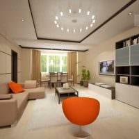 идея необычного стиля гостиной спальни 20 кв.м. фото