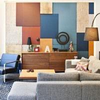идея яркого декора комнаты в скандинавском стиле фото