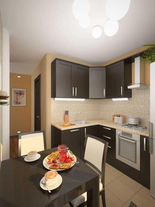 пример необычного интерьера кухни 8 кв.м