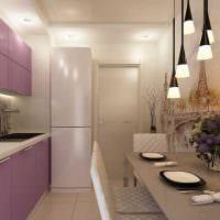 пример необычного декора кухни 9 кв.м фото
