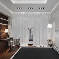 вариант красивого дизайна спальни для молодого человека картинка