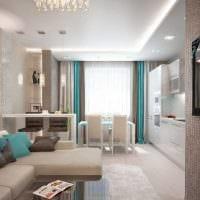 идея необычного дизайна гостиной спальни фото