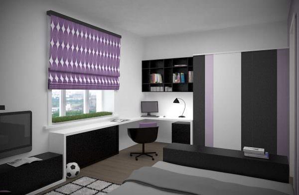 идея светлого декора спальной комнаты для молодого человека фото