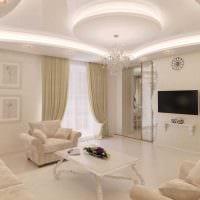 идея необычного сочетания бежевого цвета в декоре комнаты картинка