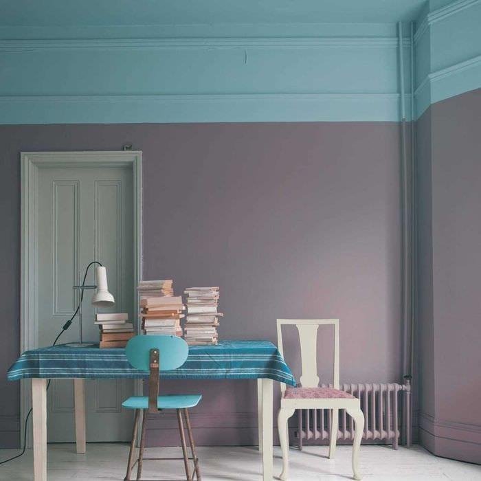вариант яркого сочетания цвета в декоре современной комнаты