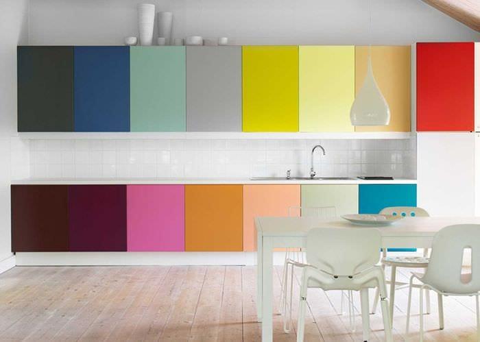 идея светлого сочетания цвета в стиле современной квартиры