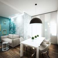 вариант необычного сочетания цвета в дизайне современной комнаты фото