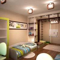 вариант необычного современного дизайна детской комнаты фото