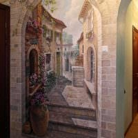идея необычного интерьера квартиры с росписью стен картинка