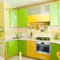 вариант яркого декора кухни фото
