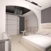 вариант яркого декора гостиной спальни фото