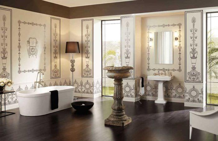 вариант необычного стиля квартиры в романском стиле