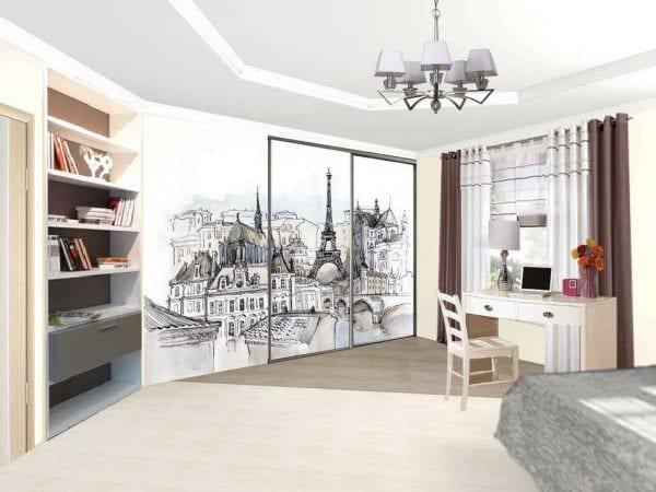 идея яркого интерьера маленькой комнаты фото