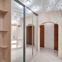 идея светлого интерьера современной прихожей комнаты картинка