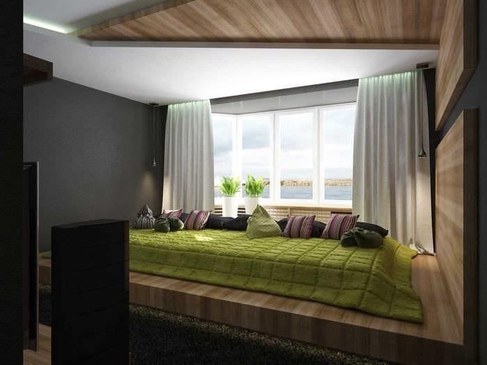 идея необычного интерьера спальной комнаты для молодого человека