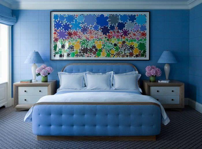 знаете, спальня в голубых тонах картинки это