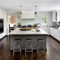 вариант применения красивого стиля кухни фото