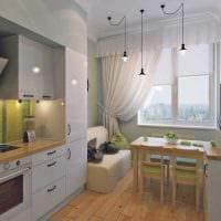 пример использования светлого дизайна кухни картинка