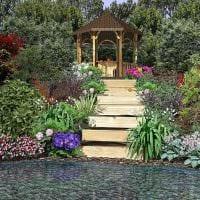 пример применения красивых растений в ландшафтном дизайне дачи картинка