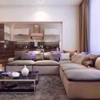идея применения необычного бежевого цвета в дизайне дома