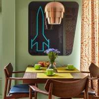 пример использования необычного дизайна комнаты в стиле ретро фото