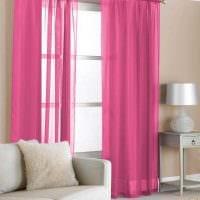 вариант применения розового цвета в необычном декоре комнате картинка