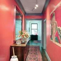 идея применения розового цвета в красивом дизайне квартире картинка