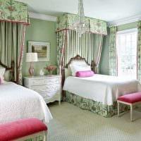 вариант применения розового цвета в ярком интерьере комнате картинка