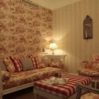 вариант применения русского стиля в красивом интерьере квартире фото