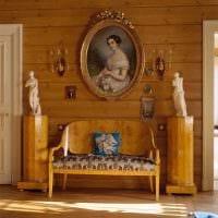 вариант применения русского стиля в красивом декоре комнате фото