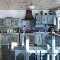 пример использования русского стиля в ярком интерьере квартире картинка