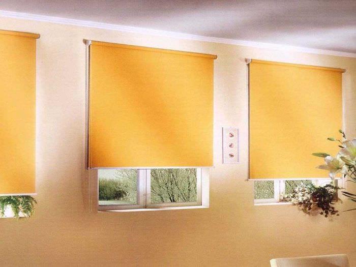 вариант применения современных штор в ярком декоре квартире
