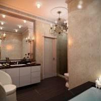 идея применения светового дизайна в ярком стиле квартиры картинка