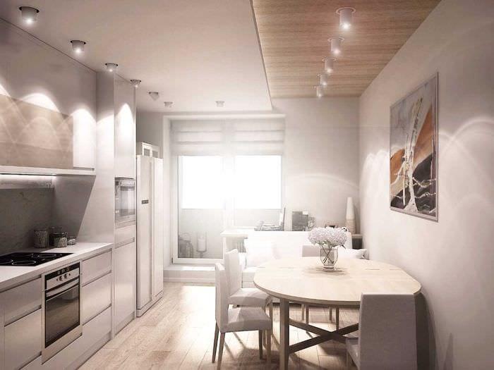 идея использования светового дизайна в необычном декоре квартиры