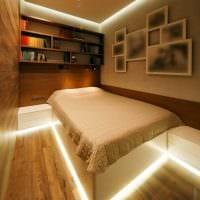 идея использования светового дизайна в необычном стиле дома картинка