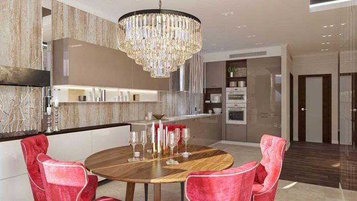 идея применения светового дизайна в необычном декоре квартиры