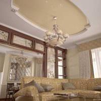 вариант использования светового дизайна в ярком декоре дома фото