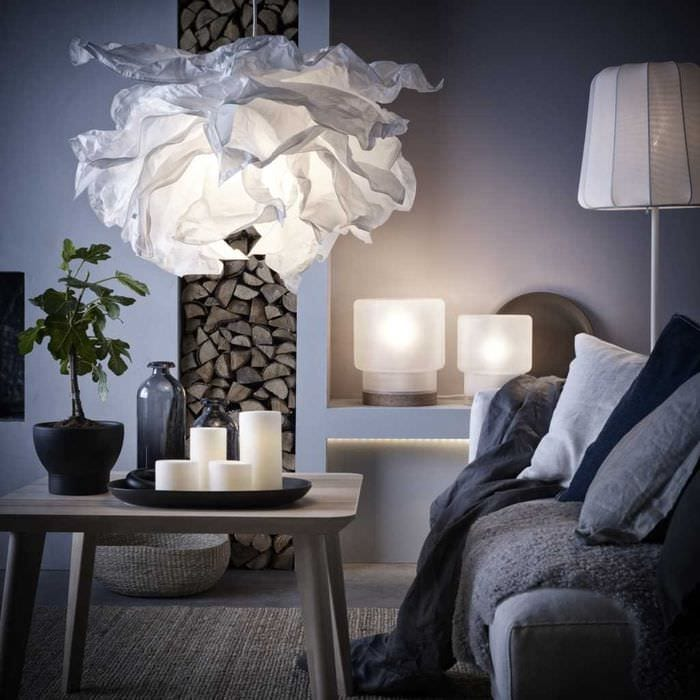 идея использования светового дизайна в необычном стиле квартиры