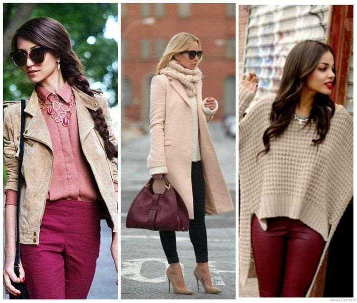 идея применения интересного бежевого цвета в дизайне одежды