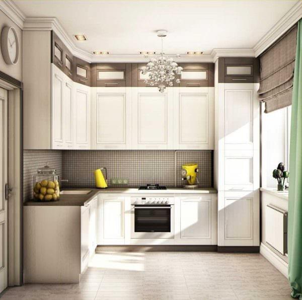 пример использования яркого интерьера кухни картинка