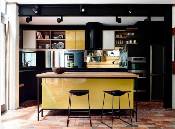 вариант использования светлого стиля кухни