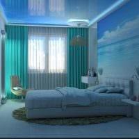 идея применения интересного голубого цвета в стиле комнаты картинка