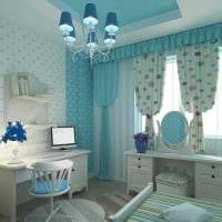 идея применения интересного голубого цвета в стиле дома картинка