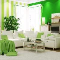 идея применения зеленого цвета в необычном декоре комнаты картинка