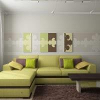 пример использования зеленого цвета в красивом дизайне квартиры фото