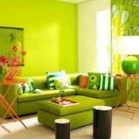 идея применения зеленого цвета в необычном интерьере квартиры фото