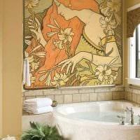 идея красивого дизайна квартиры с росписью стен картинка