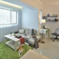 идея необычного интерьера двухкомнатной квартиры в хрущевке картинка
