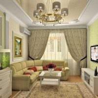 идея светлого стиля спальной комнаты 18 кв.м. картинка