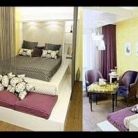 вариант светлого стиля гостиной спальни картинка